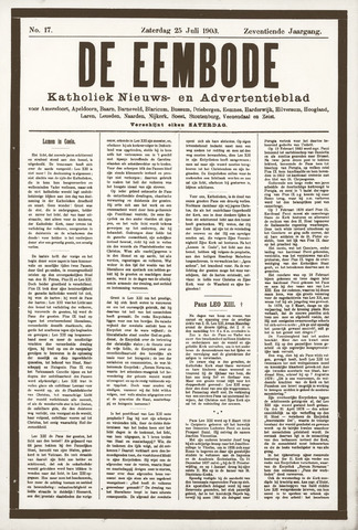 De Eembode 1903-07-25