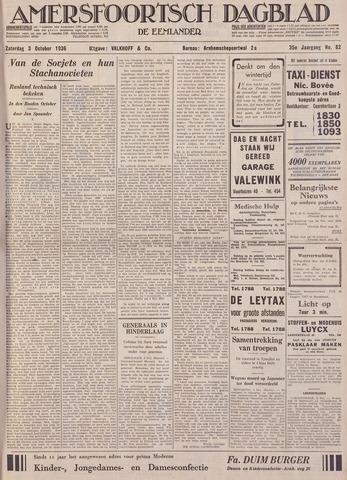 Amersfoortsch Dagblad / De Eemlander 1936-10-03