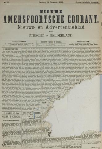 Nieuwe Amersfoortsche Courant 1892-11-26