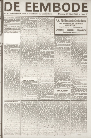 De Eembode 1922-05-30