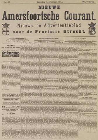 Nieuwe Amersfoortsche Courant 1914-02-14