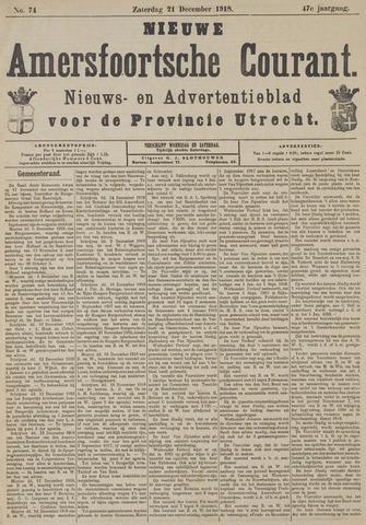Nieuwe Amersfoortsche Courant 1918-12-21