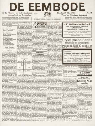 De Eembode 1928-05-29