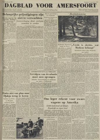 Dagblad voor Amersfoort 1949-09-27