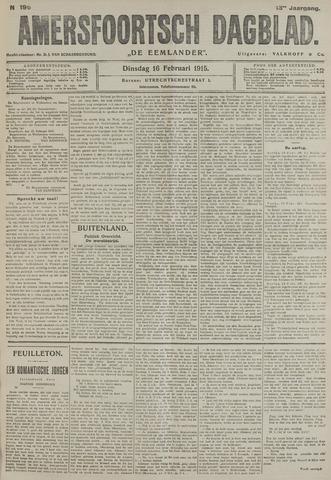 Amersfoortsch Dagblad / De Eemlander 1915-02-16