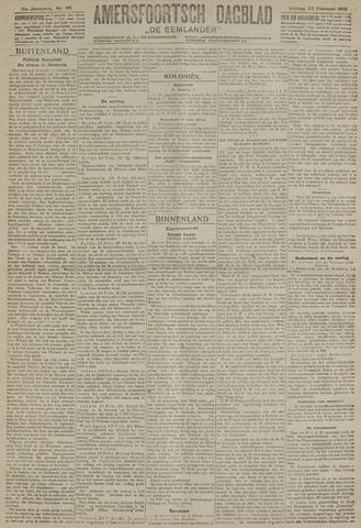 Amersfoortsch Dagblad / De Eemlander 1918-02-22