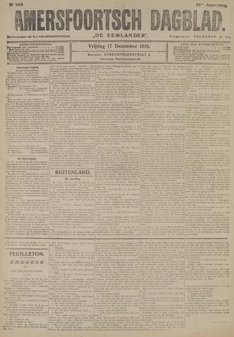 Amersfoortsch Dagblad / De Eemlander 1915-12-17