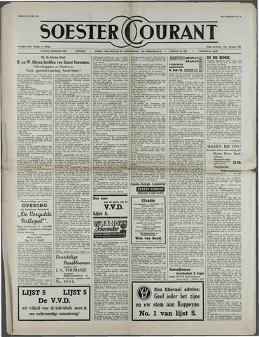 Soester Courant 1954-04-16
