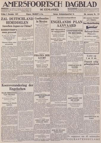 Amersfoortsch Dagblad / De Eemlander 1937-11-05