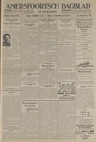 Amersfoortsch Dagblad / De Eemlander 1934-04-16
