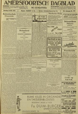 Amersfoortsch Dagblad / De Eemlander 1934-05-26