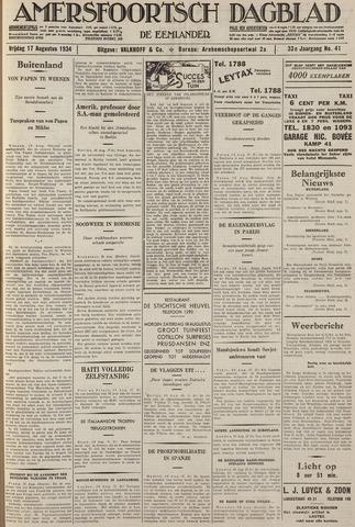 Amersfoortsch Dagblad / De Eemlander 1934-08-17