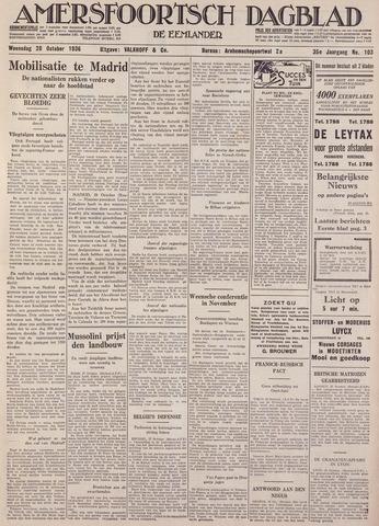 Amersfoortsch Dagblad / De Eemlander 1936-10-28