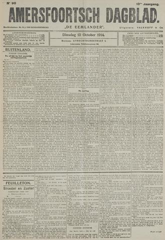 Amersfoortsch Dagblad / De Eemlander 1914-10-13