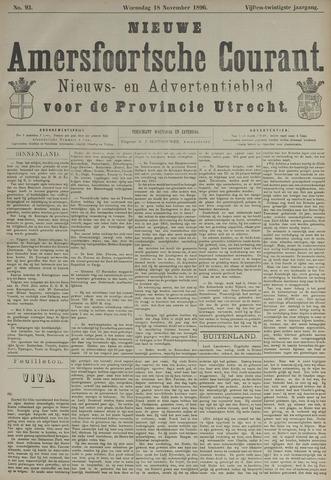 Nieuwe Amersfoortsche Courant 1896-11-18