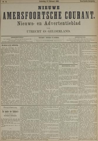 Nieuwe Amersfoortsche Courant 1885-02-14
