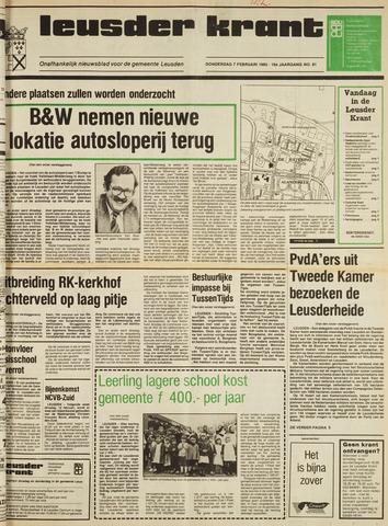 Leusder Krant 1985-02-07