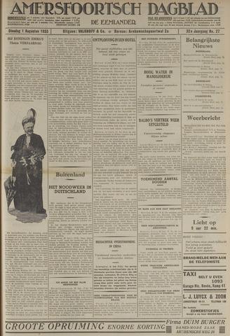 Amersfoortsch Dagblad / De Eemlander 1933-08-01