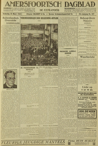 Amersfoortsch Dagblad / De Eemlander 1933-03-23