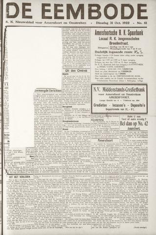 De Eembode 1922-10-31