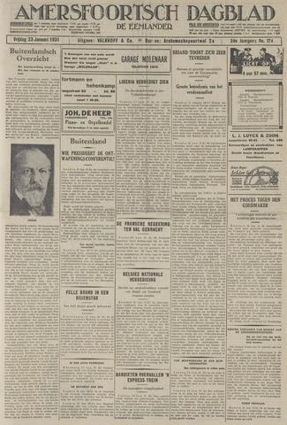 Amersfoortsch Dagblad / De Eemlander 1931-01-23