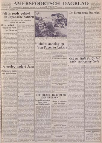 Amersfoortsch Dagblad / De Eemlander 1942-02-25