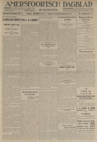 Amersfoortsch Dagblad / De Eemlander 1933-09-25