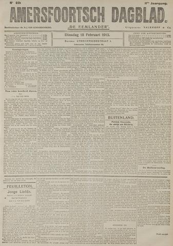 Amersfoortsch Dagblad / De Eemlander 1913-02-18