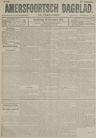 Amersfoortsch Dagblad / De Eemlander 1914-11-26