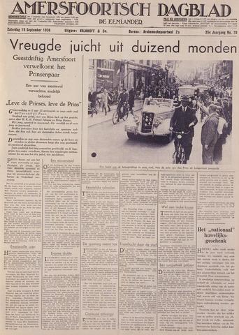 Amersfoortsch Dagblad / De Eemlander 1936-09-19