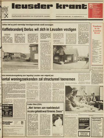 Leusder Krant 1985-10-22