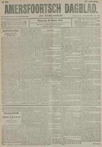 Amersfoortsch Dagblad / De Eemlander 1915-03-29