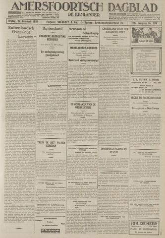 Amersfoortsch Dagblad / De Eemlander 1931-02-27