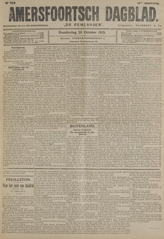 Amersfoortsch Dagblad / De Eemlander 1915-10-28