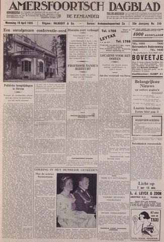 Amersfoortsch Dagblad / De Eemlander 1935-04-10