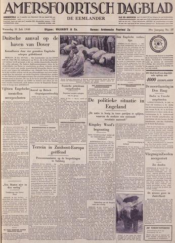 Amersfoortsch Dagblad / De Eemlander 1940-07-31