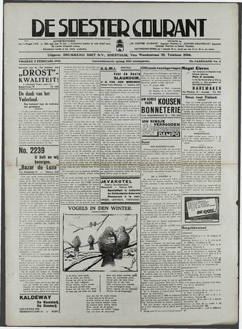 Soester Courant 1940-02-09