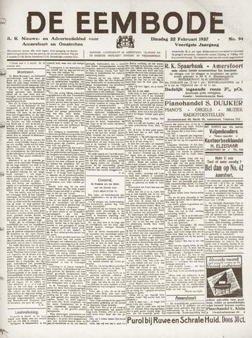 De Eembode 1927-02-22