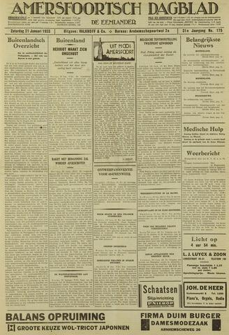 Amersfoortsch Dagblad / De Eemlander 1933-01-21