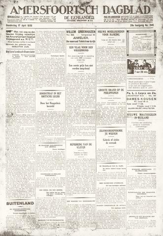 Amersfoortsch Dagblad / De Eemlander 1930-04-17