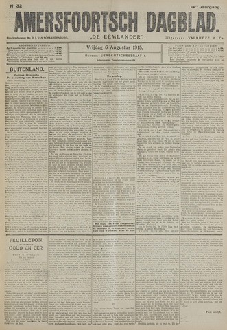 Amersfoortsch Dagblad / De Eemlander 1915-08-06