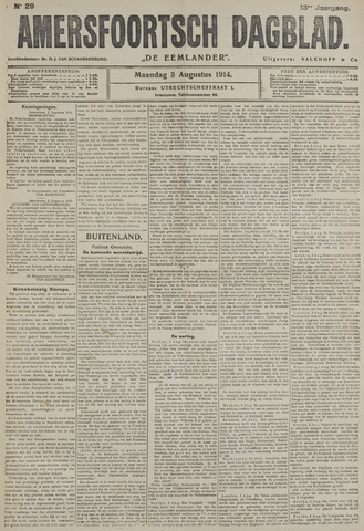 Amersfoortsch Dagblad / De Eemlander 1914-08-03