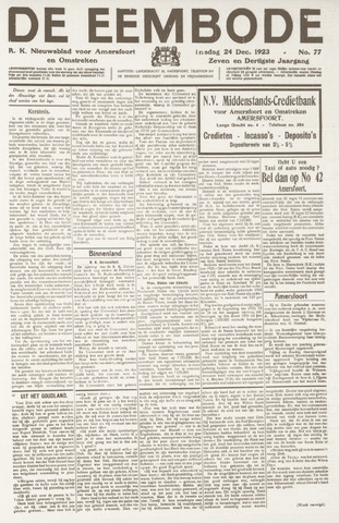 De Eembode 1923-12-24