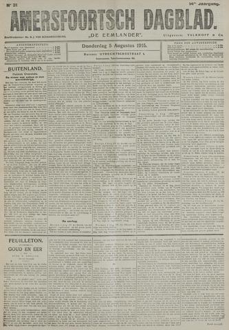 Amersfoortsch Dagblad / De Eemlander 1915-08-05