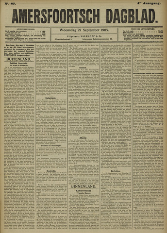 Amersfoortsch Dagblad 1905-09-27