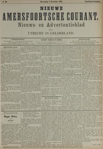 Nieuwe Amersfoortsche Courant 1885-11-04
