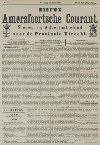 Nieuwe Amersfoortsche Courant 1907-03-13