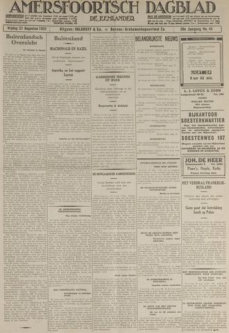 Amersfoortsch Dagblad / De Eemlander 1931-08-21