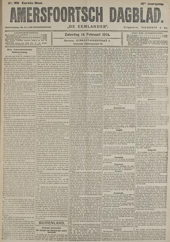 Amersfoortsch Dagblad / De Eemlander 1914-02-14