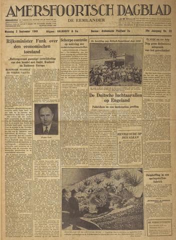 Amersfoortsch Dagblad / De Eemlander 1940-09-02